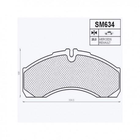 Placute de frana 634/1-Z SM634
