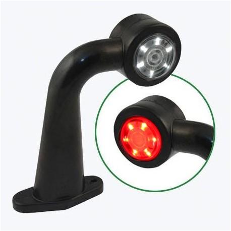 Lampa gabarit cu brat cu cot 90° si lumina LED DLG 003 Egkal cu 12 led alb si rosu