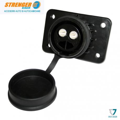 Priza electrica 24V / 2 poli plastic - 300A