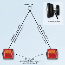 Set echipament de iluminat cu FT-122 LED