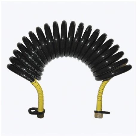 Furtun aer flexibil spirala Kombilink negru PUR
