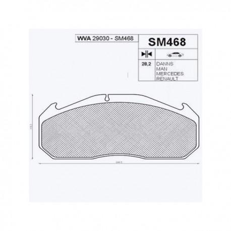 Placute de frana WVA 29030 SM468