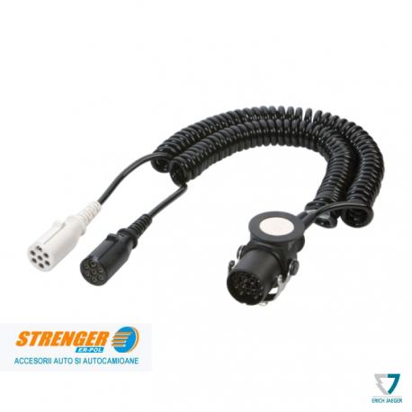 Adaptor Cablu electric Spiralat 15poli Euro 6