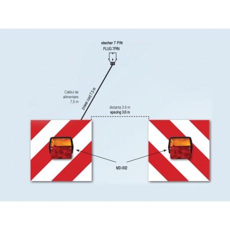 Set panou avertizare cu lampi spate MD-002