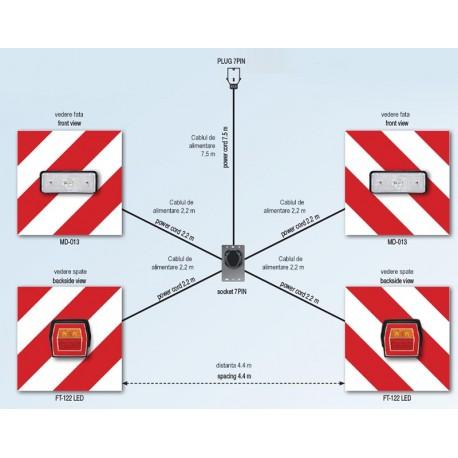 Set panouri de avertizare unilateral cu LED