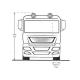 Proiector full led FERVOR 180 pozitii de montare camioane