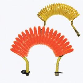Furtun aer flexibil spirala Duraflex galben / rosu PUR