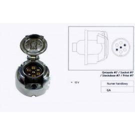 Priza electrica 12V/ 7b metal / plastic